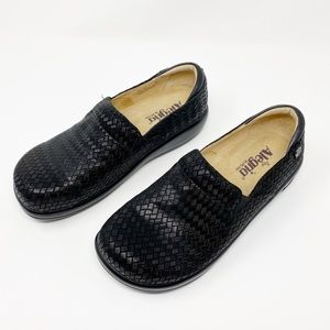 Alegria Black Leather Keli Esher Shoes Size 8.5